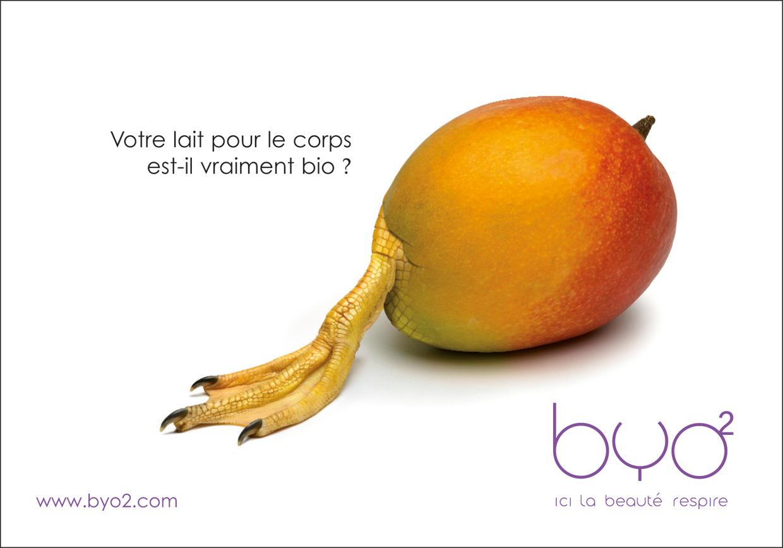 BYO2 Publicité crème corps