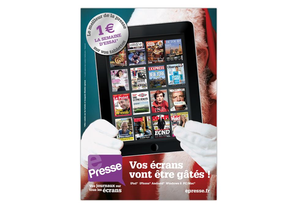 EPRESSE - publicité noël
