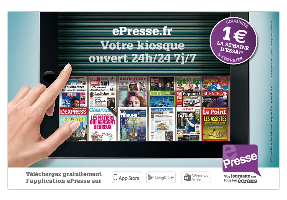 EPRESSE - publicité kiosque
