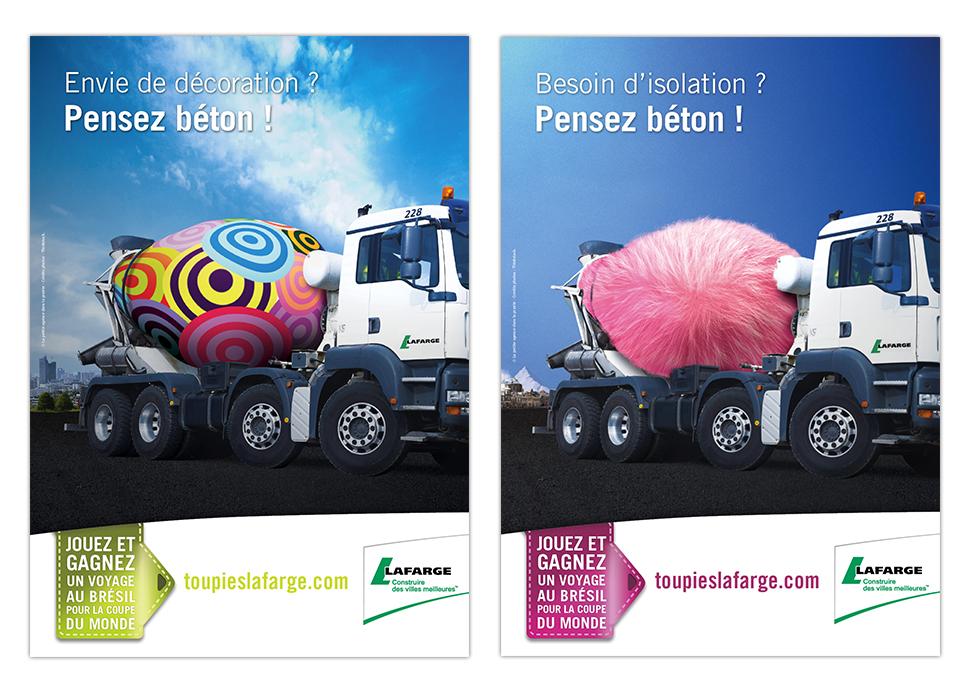 LAFARGE Bétons - Publicités Thermédia et Artévia