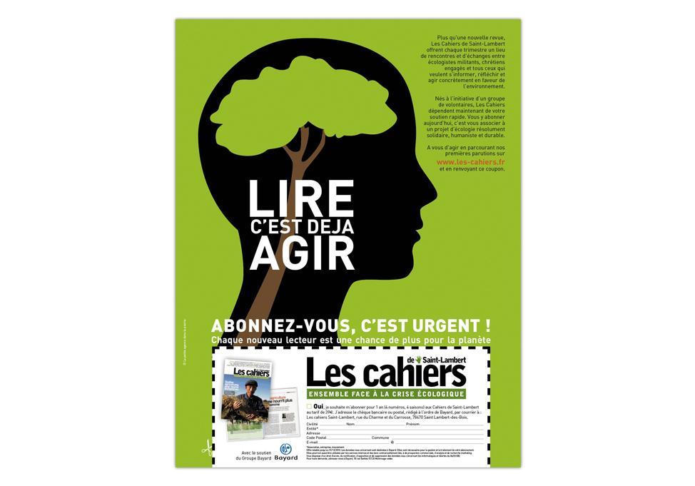 Cahiers de Saint-Lambert - Publicité