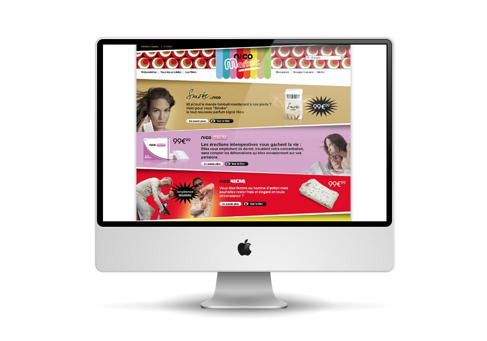 Site Nicomarket.com page de contenu