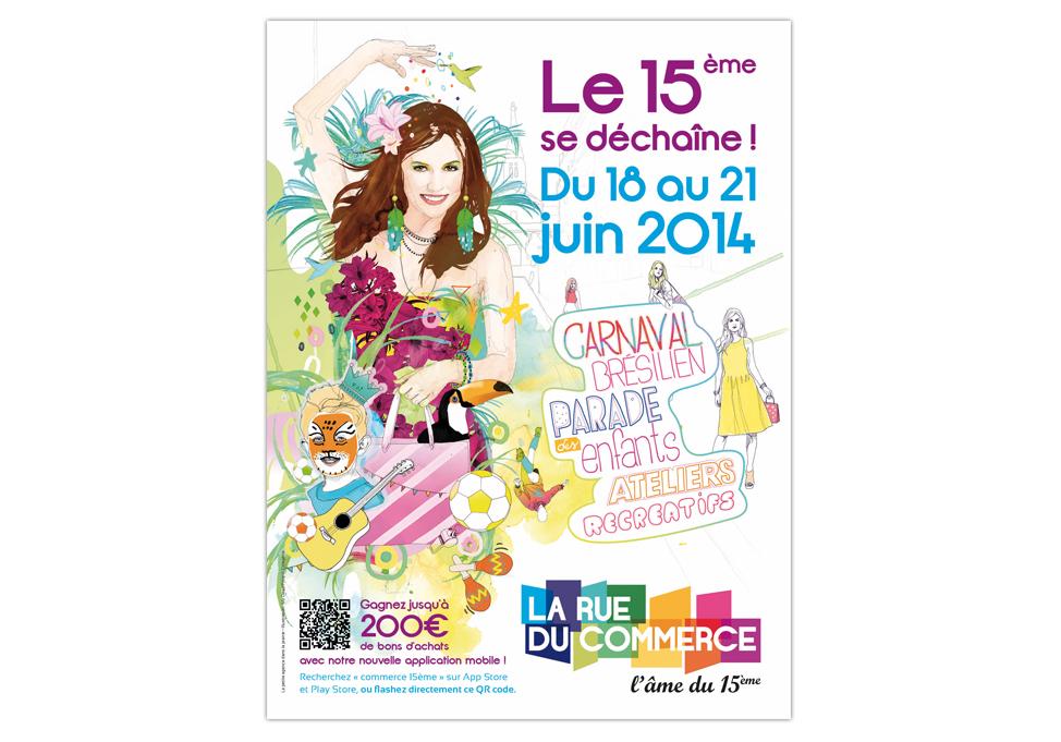 Rue du Commerce Paris 15ème - Affiche carnaval 2014